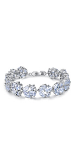 white stone cz bracelet for wedding