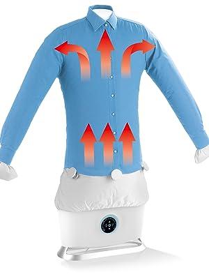 CLEANmaxx Plancha automática con función de vapor   Seca y alisa camisas y blusas y sustituye a la plancha   Estación de planchado automática con 2 ...