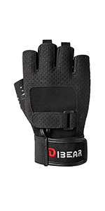 Black workout gloves
