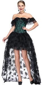 Off Shoulder Corset Skirt Set