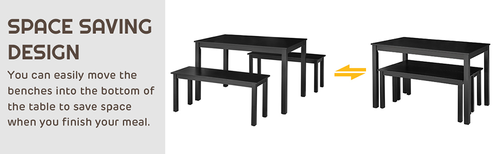 Modern Studio Collection Table with Benches