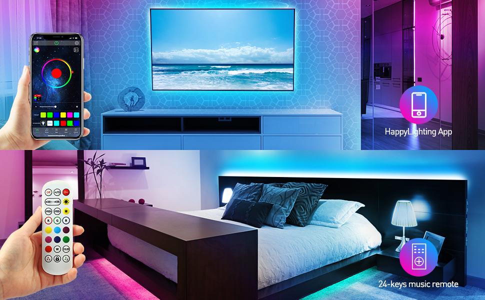 bedroom led lights strip