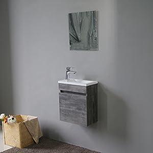 STARBATH PLUS - Conjunto Mueble de Baño Suspendido MDF 40x22 ...