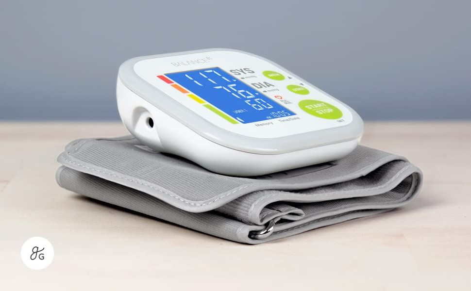 Greater Goods Blood Pressure Monitor Cuff Kit by Balance, Digital BP Large Display, (BP Monitor New)