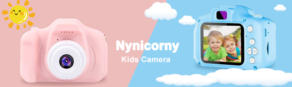 Pink kids camera