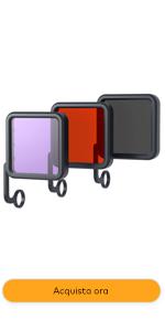 filtri acqua, action cam, go pro,  accessori action cam universali, filtri gopro, accessori go pro