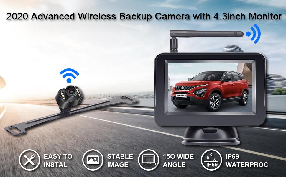 2020 advanced wireless backup camera