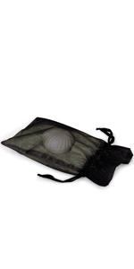 black Organza Drawstring Bags