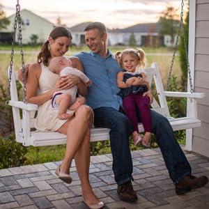 Jason, Hillary, Ella, and Lincoln McDonald Family Photo