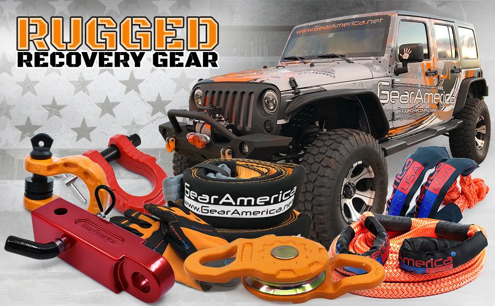 GearAmerica,RuggedRecoveryGear,Straps,Shackles,hitchreceivers,snatchblocks,jeeprescue,recoverygear