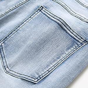 men jeans biker slim fit skinny man fashion casual