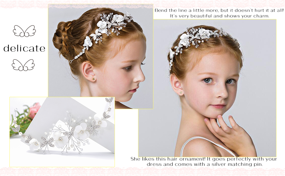 Bridal  Crystal  Pearl Hair Dress