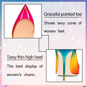 high heel pumps,FSJ Women Formal Pointed Toe Pumps High Heel Stilettos Sexy Slip On Dress Shoes Size 4-15 US