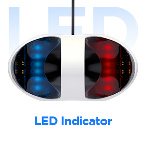 Indicador LED vermelho e azul Acessórios para PlayStation 5