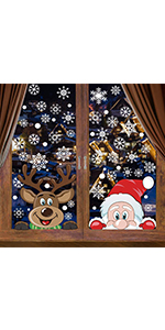 300Pcs Christmas Window Clings