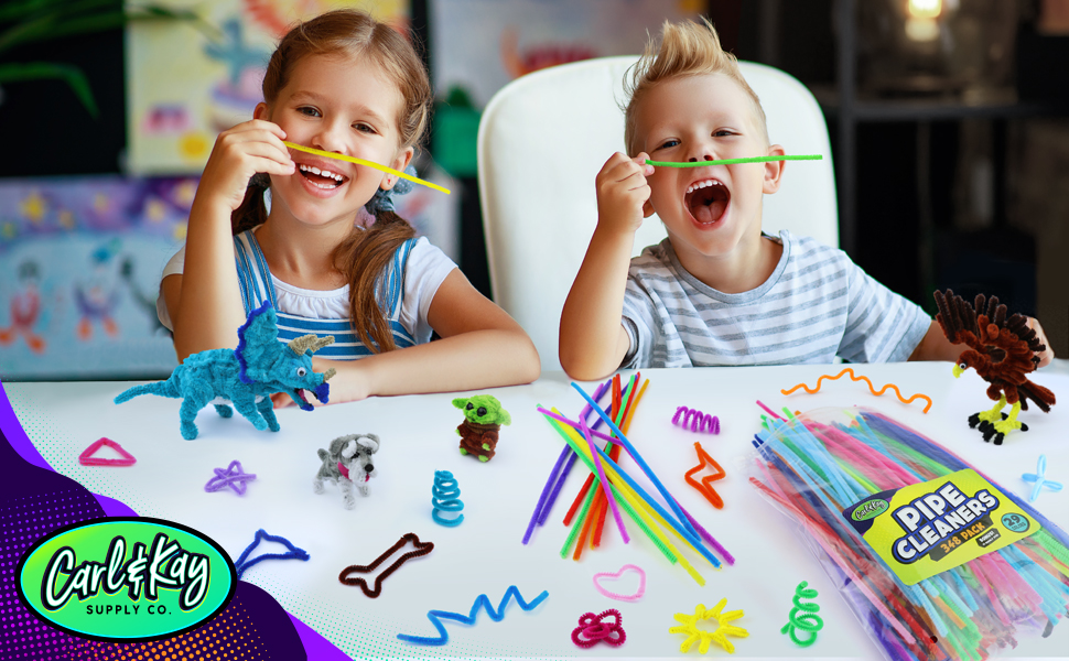 pipe cleaner crafts with at school with class in the classroom