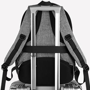 15.6 inch laptop backpack with padded shoulder straps bag men charging backpack business rucksack