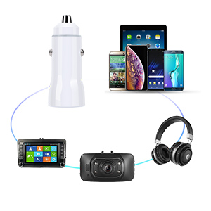 USB Car Charger, Costyle 30W Dual 2 USB Car Charger Adapter with Quick Charge QC 3.0 Port and 3.1A Port Compatible for iPhone Xs Max XR X 8 7 Plus, ...