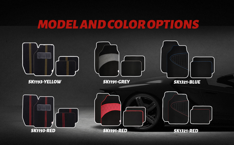 MODEL AND COLOR OPTIONS
