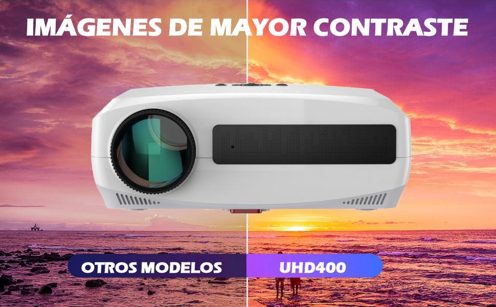 proyector alto brillo, proyector wimius, proyector yaber, proyector bosnas, proyector 4k, led