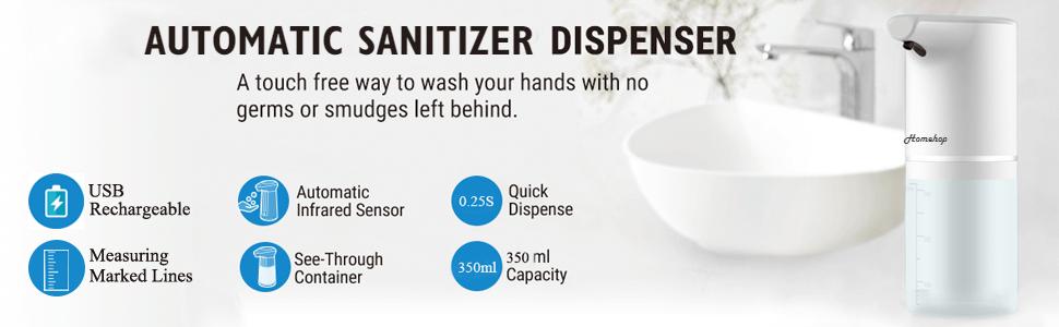 automatic sensor touchless dispenser machine sanitizer disinfectant liquid sprayer dispensers home