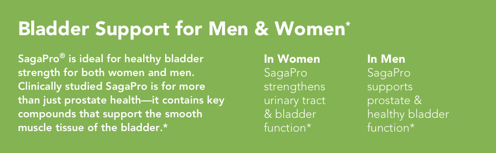 bladder support for men, for women, prostate health, smooth muscle tissue, urinary tract