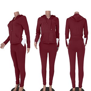 2 Piece Workout Set for Women Lounge Sets Fall Zip Hoodies Crop Tops Bodycon Sweat Suits Tracksuits