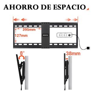 Eono by Amazon - Soporte TV Pared Inclinable, Soporte de ...