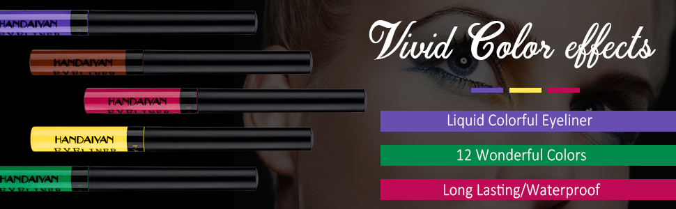 colourful eye liners