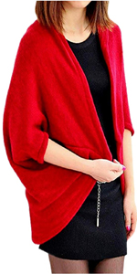 red sweater wrap cape