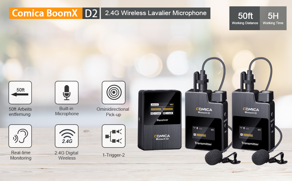 wireless lavalier lapel microphone for camera canon nikon sony panasonic fuji video microphone kit