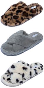 slippers leopard print