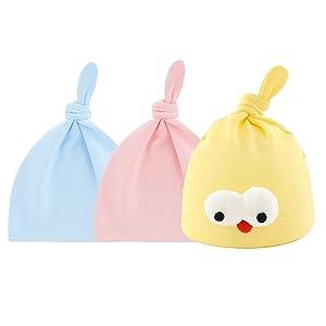Aschlop Baby Cotton Hat Newborn Boy Cap Cute