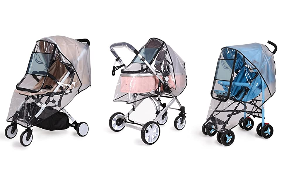 Pram Stroller Rain Cover Universal Baby Toddler Strong Travel Heavy Duty