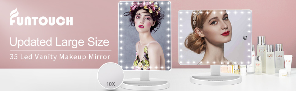 Large Vanity Led Makeup Mirror with 10X Magnification