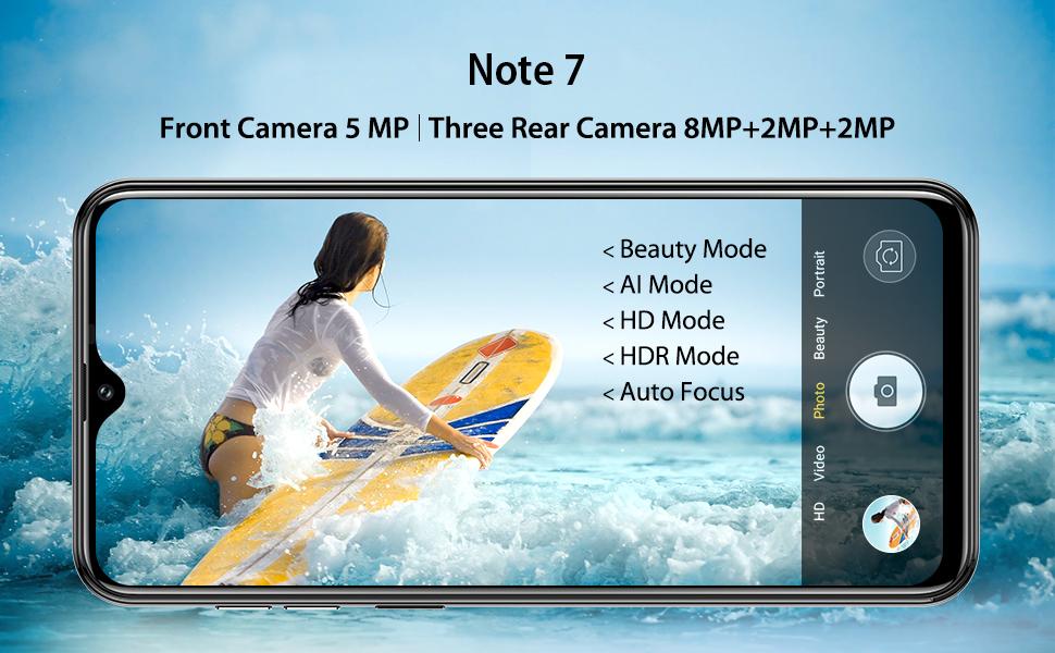 2020 Ulefone Note 7 Tout nouveau téléphone mobile Android 9.0