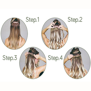 clip in hair extensions straight