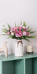 mini rose with vase