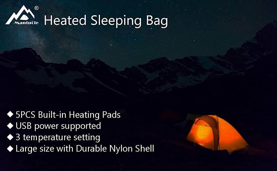 Mantuole Heated Sleeping Bag