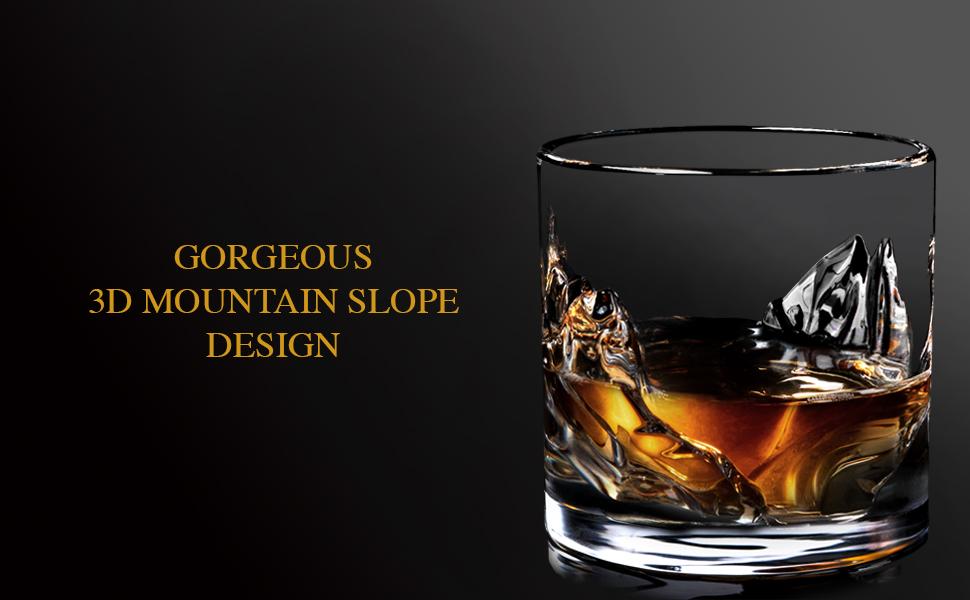 3D whiskey glasses; unique whiskey glasses; unique alcohol glasses
