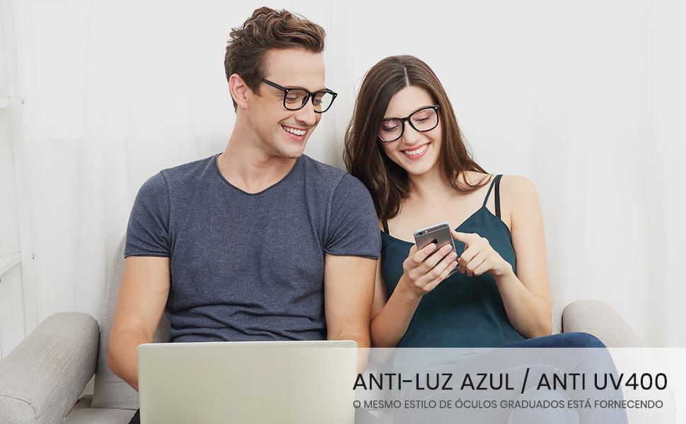 Óculos anti-azuis femininos
