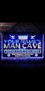 Custom Order Personalize Man Cave Shadow Box 3 Dimensional LED Lighted Lamps Bar