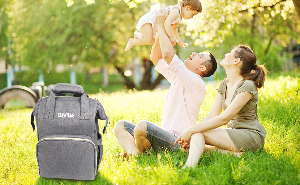 Diaper Bag Backpack Multi-Function Waterproof Travel Backpack Nappy Bags for Mom Dad