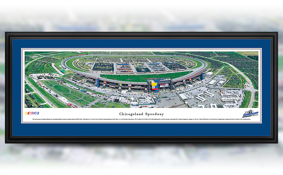 Chicagoland Speedway framed panoramic picture