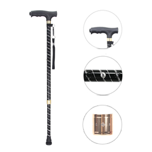 Baston para muje y hombre, OOCOME Baston anciano regulable 60-94CM Bastón de Caminar Bastónes adulto altura regulables aluminio baston con luz LED ...