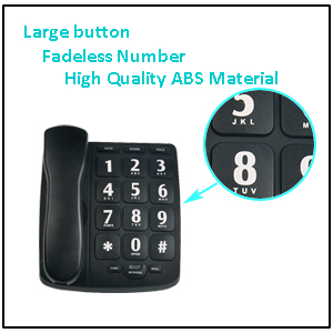 an easy use big button corded phone for elderly who are in hearing impaired