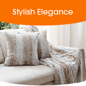 stylish throw pillows on a couch
