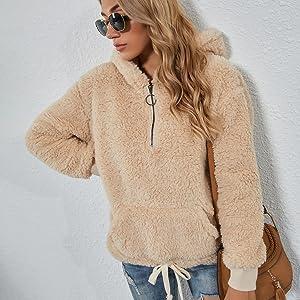 half zip pullover women