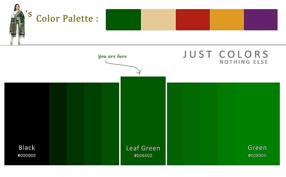color palette leaf green
