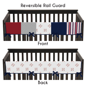 Sweet Jojo Designs 2-Piece Navy Blue and White Nautical Anchor Teething Protector Cover Wrap Baby Crib Side Rail Guards